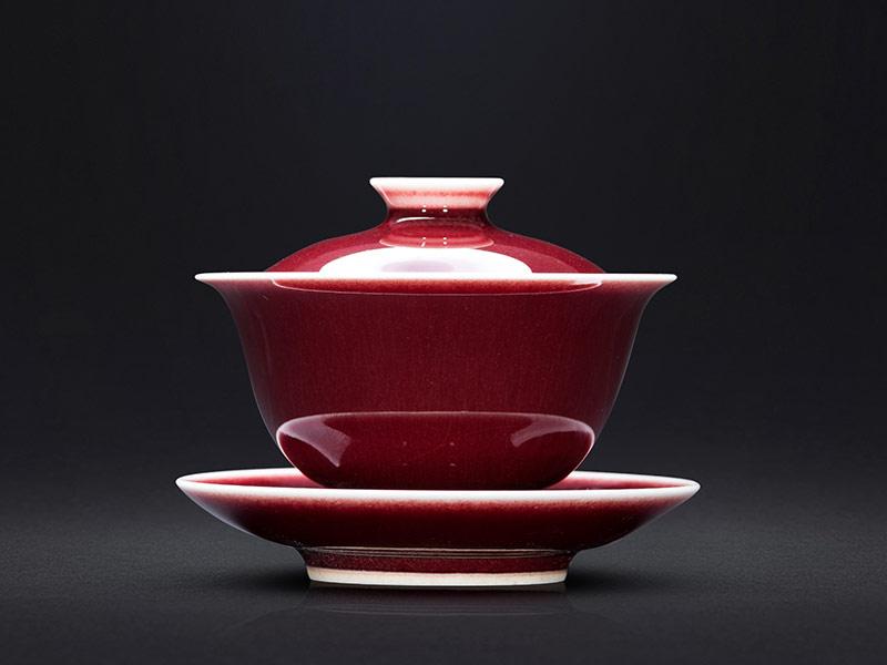 郎紅釉泡茶碗